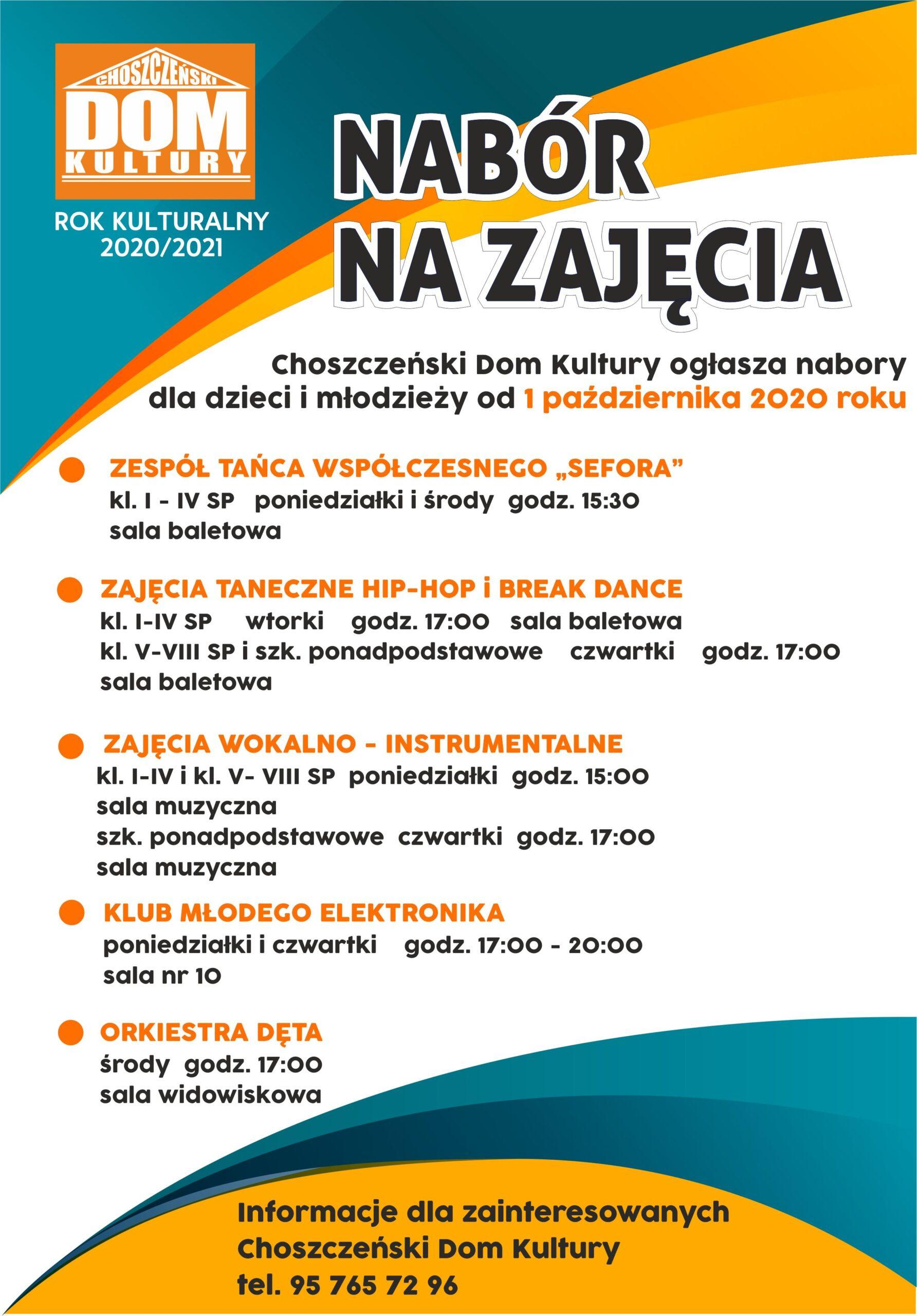plakat nabór na zajęcia ChDK