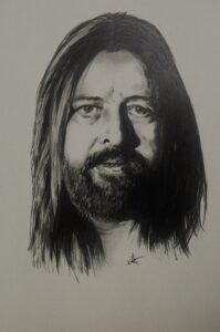 Autor: Krystian Migdalski z Bierzwnika Tytuł: portret Tadeusza Nalepy